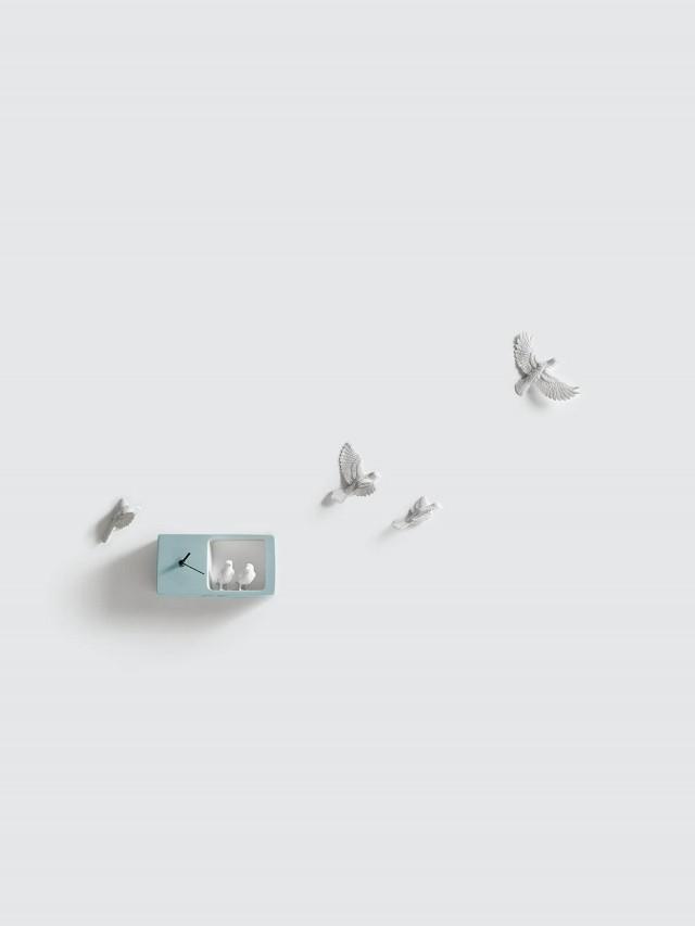 haoshi 麻雀時鐘 - 淺藍