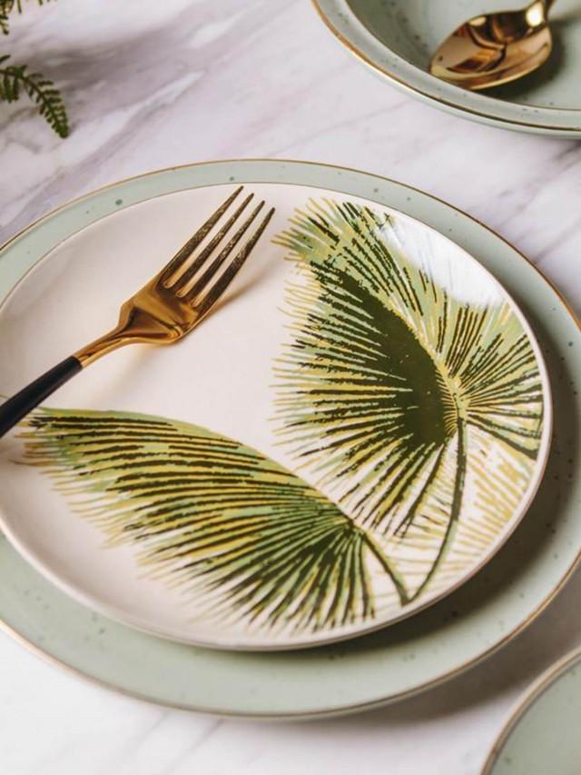 Bloomingville 金色仲夏系列 - 大棕櫚葉圓盤