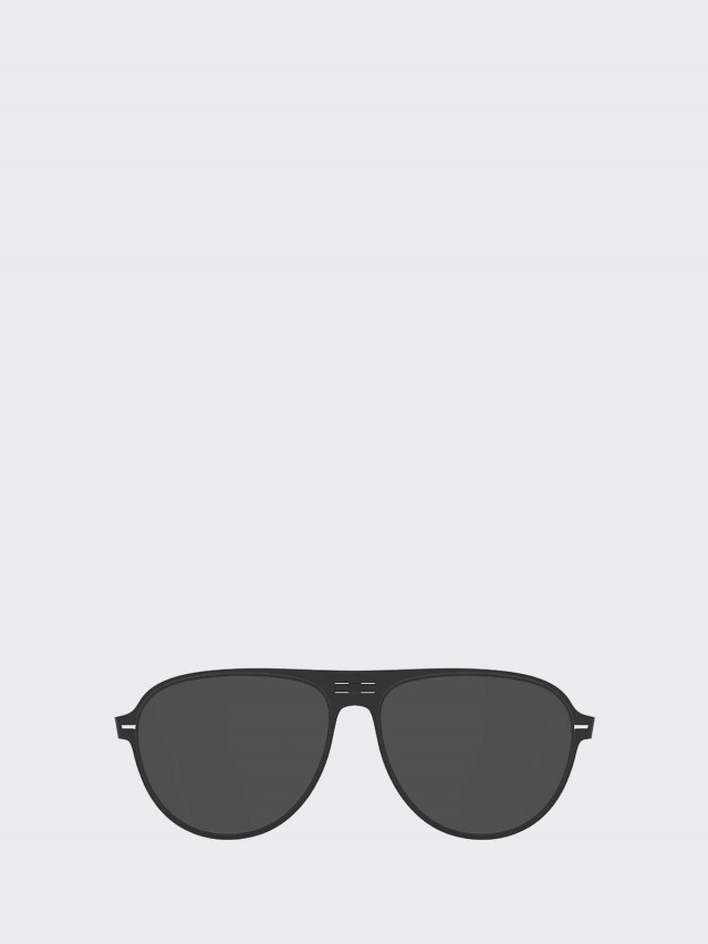 ROAV 薄鋼摺疊太陽眼鏡 -  Dixon 黑框 / 綠片鏡片