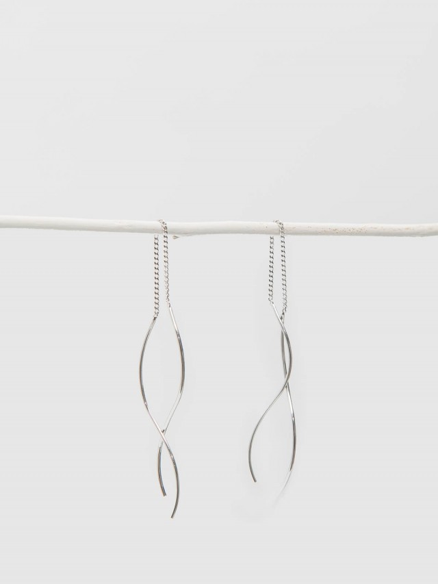Lélim Jewelry 耳環 SILVER WAVE EARRINGS
