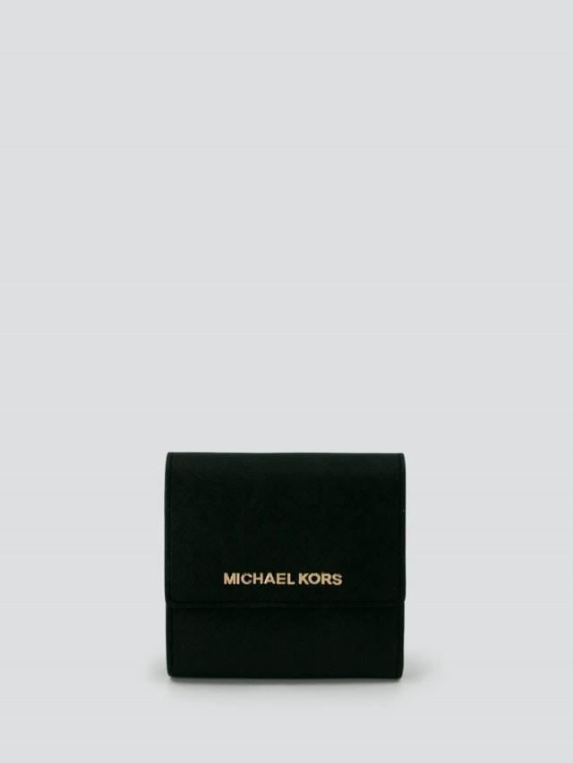 MICHAEL KORS 防刮真皮三折短夾 x 黑色