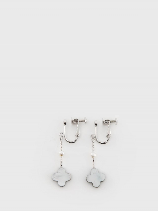ASAHI JEWELRY Freshwater Pearl Earrings 氣質碎花夾式耳環