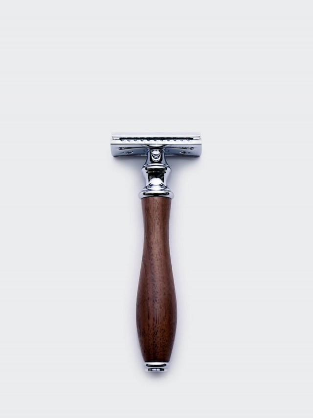 Grand Manner 尊爵系列 / 復古雙刃手動安全刮鬍刀 - 胡桃木