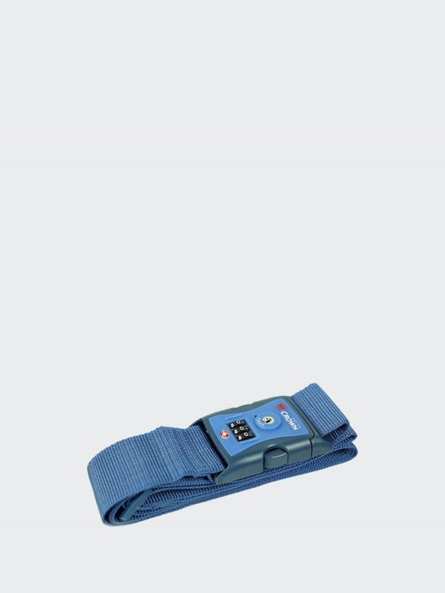 CROWN 行李箱密碼束帶 - 藍