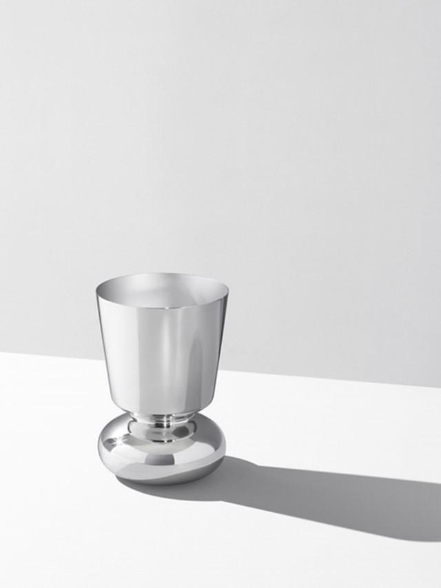 GEORG JENSEN Alfredo 系列 - 不鏽鋼聖杯花瓶 ( 小 )