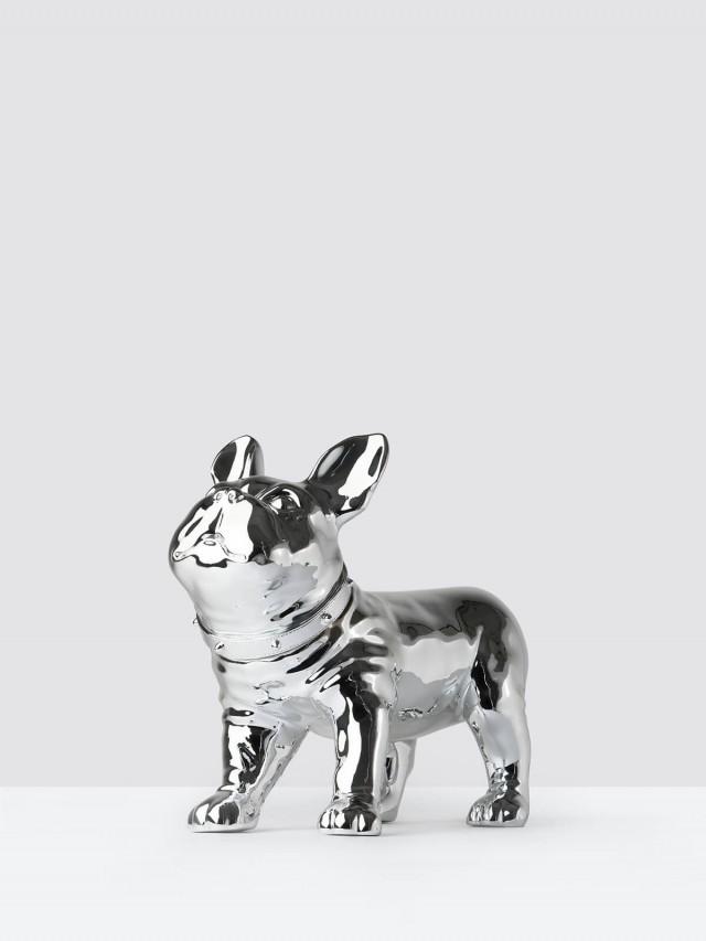 iEgoArt 鬥牛犬裝飾 - 銀