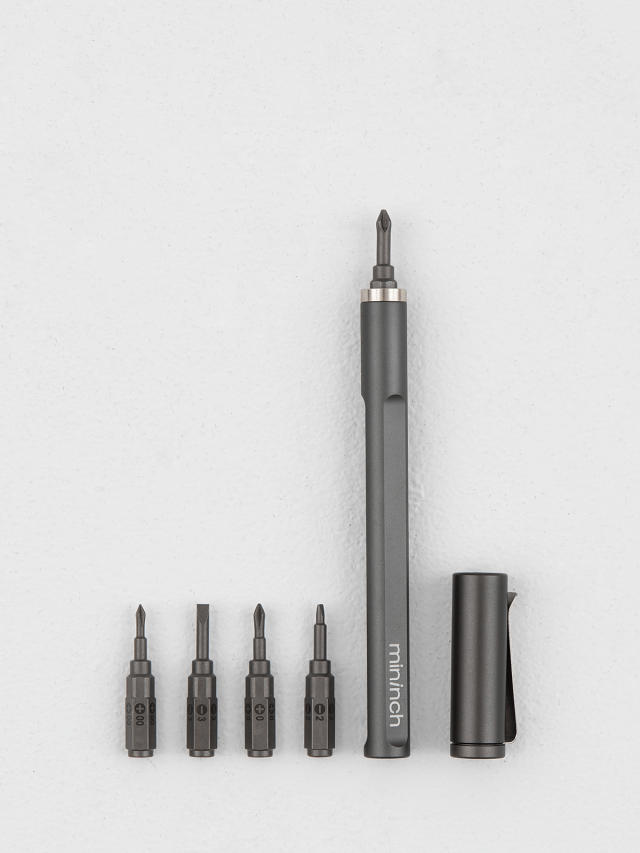 mininch Tool Pen Mini 工具筆 22 件組 - 太空灰