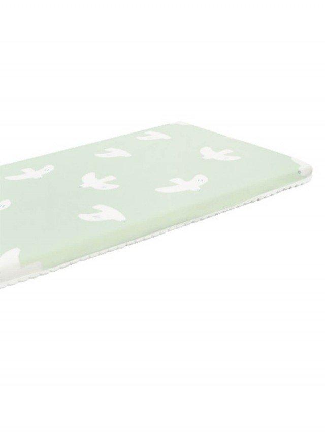 PAMABE 二合一水洗透氣嬰兒床墊 - HAPPY 青鳥
