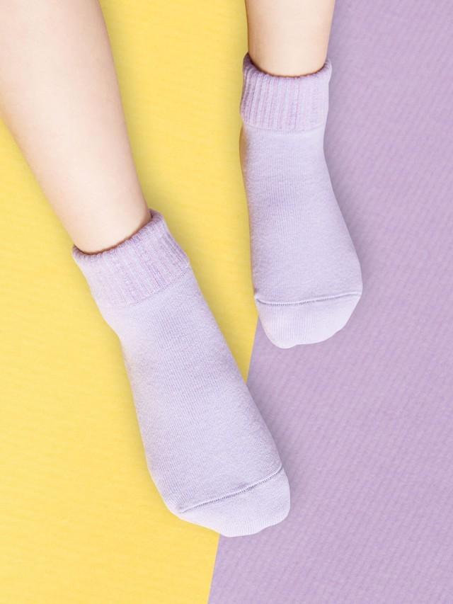 sokker 馬卡龍防滑 2 分之 1 童襪 - 夜空紫