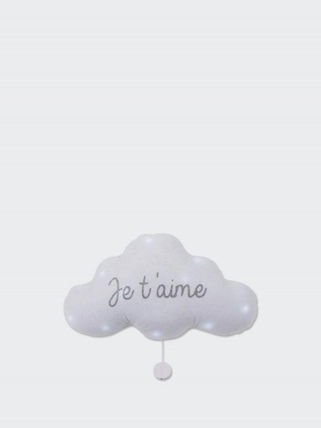 TOI-MEME 法式雲朵音樂夜燈 ( 我愛你 - 銀白 ) 禮盒