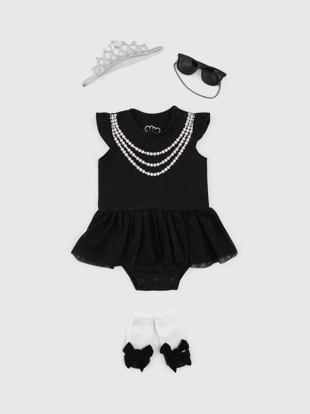 日安朵朵 女嬰經典禮盒組 - 奧黛莉赫本 / 短袖