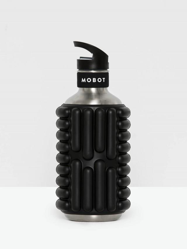 MOBOT 40 oz 按摩滾輪水壺 - 黑