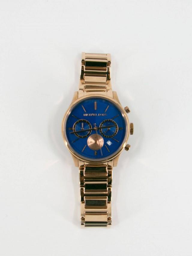 MICHAEL KORS MK 玫瑰金不鏽鋼腕錶
