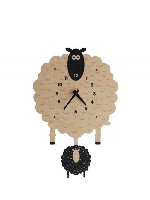 modern moose 綿羊 3D 立體擺鐘