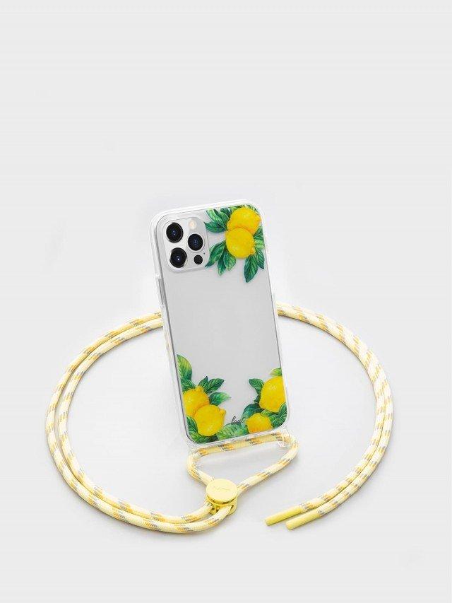 LAUT CRYSTAL POP 系列繩索背帶手機殼 - 檸檬 ( iPhone 12 series )