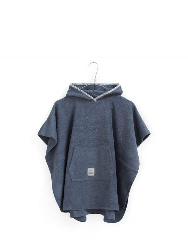 NANAMI 寶貝浴巾斗篷 - 海洋藍