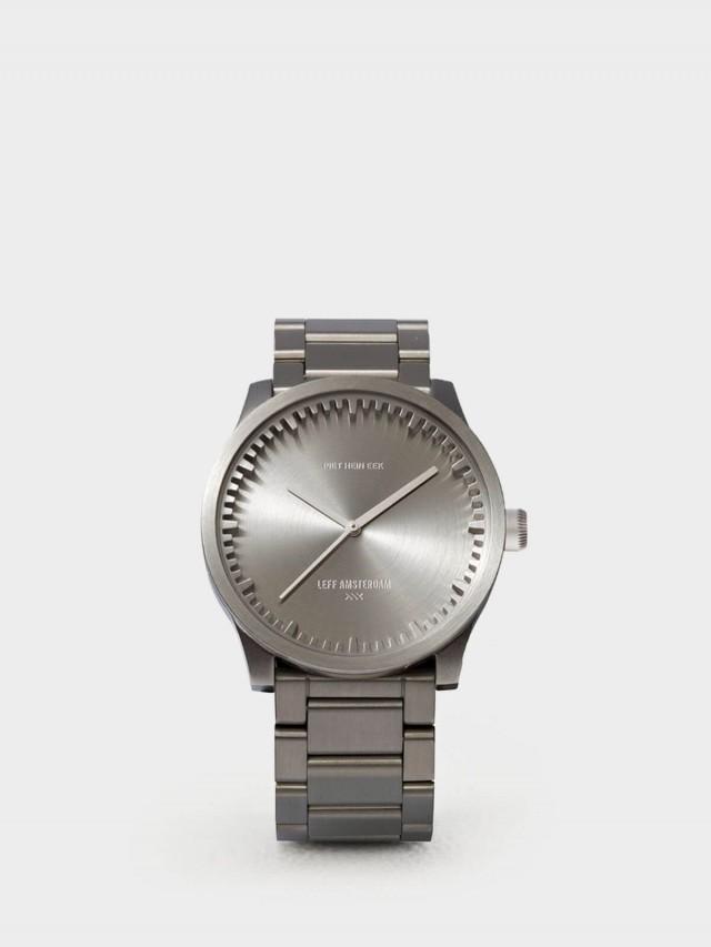 LEFF amsterdam tube 北歐工業齒輪設計腕錶 - 42 mm 不銹鋼 / 銀鋼帶
