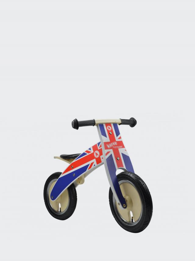 kiddimoto 流線木製平衡車 - 英國國旗