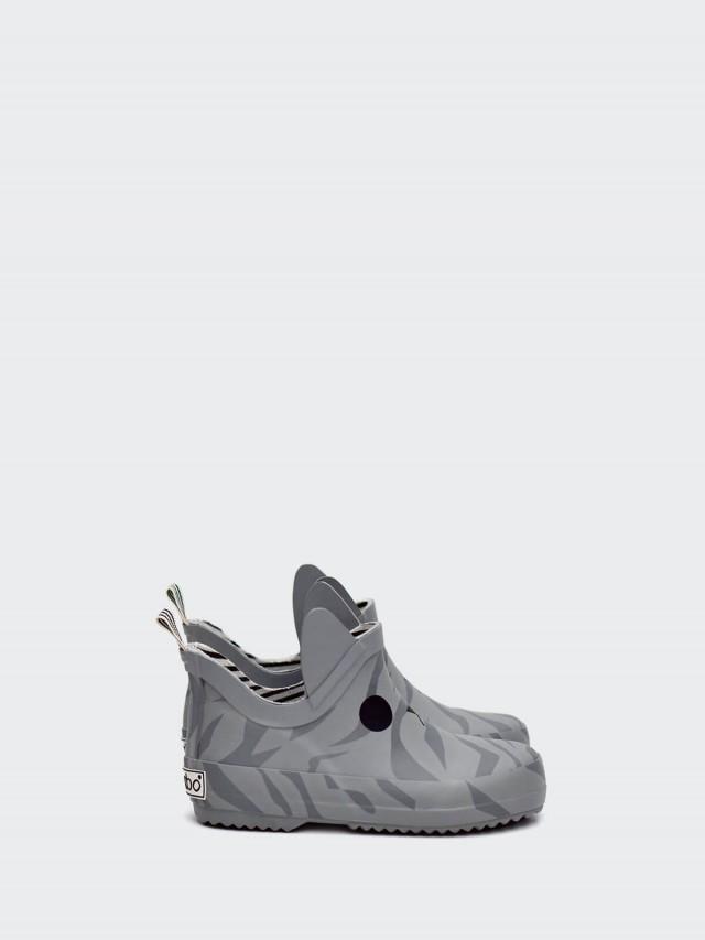 BOXBO 雨靴 - 遊樂園 / 貓咪灰