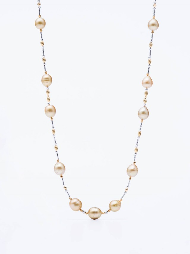 ASAHI JEWELRY 南洋金色真珠項鍊