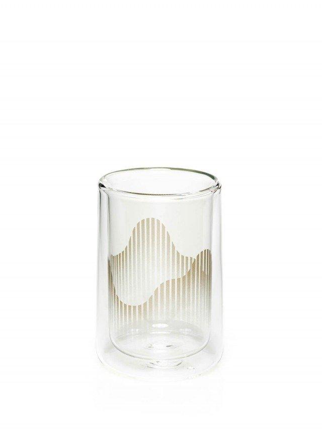 TZULAï 心適喫飯 - 大山雙層玻璃杯 ( 晨曦金 )