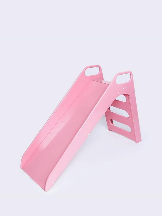 Misioo 高級木製溜滑梯 - 粉紅莓