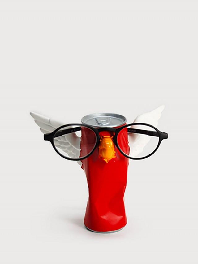 antartidee 易拉罐小鳥造型眼鏡架 - 紅
