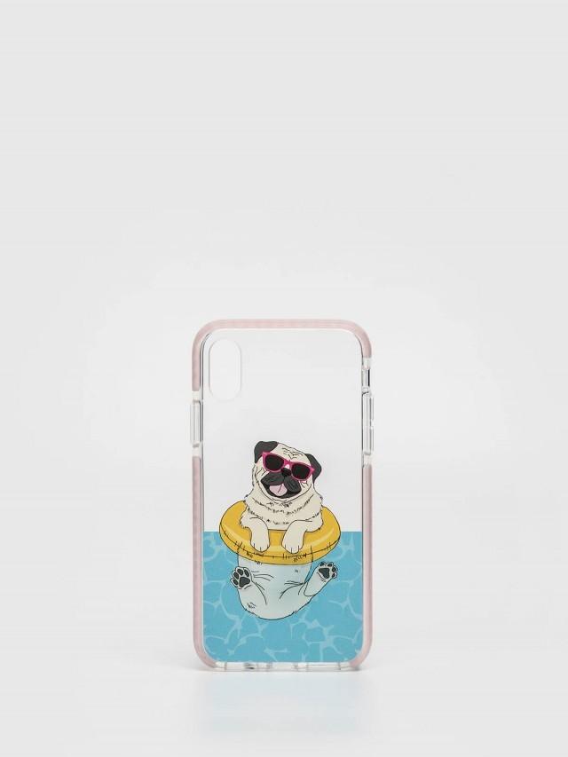 CASETiFY iPhone X 游泳巴哥手機殼