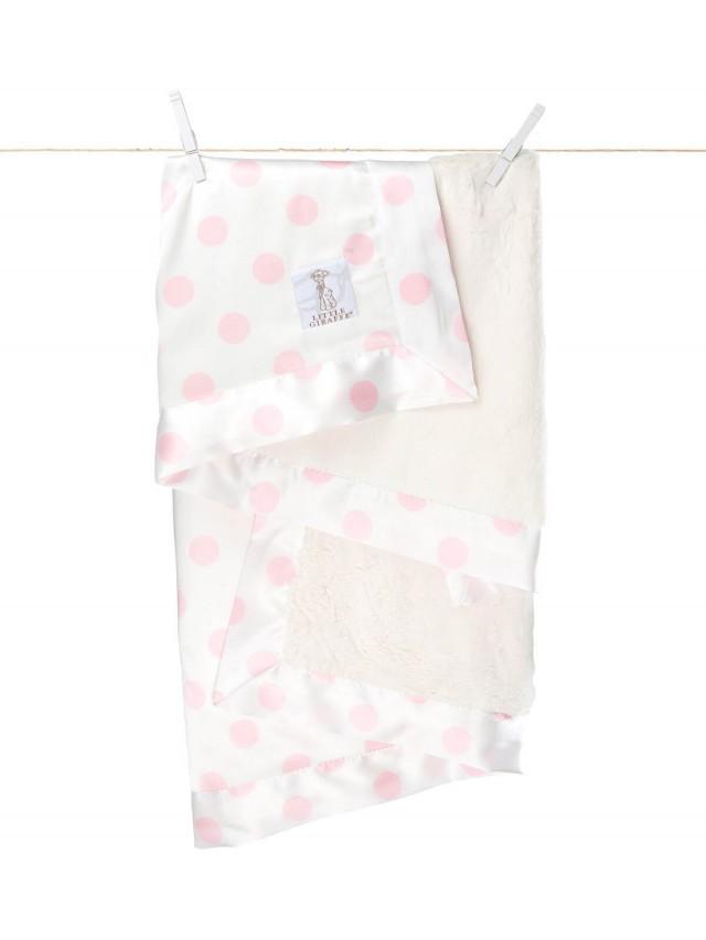Little Giraffe 豪華奶油點點毯 - 粉色