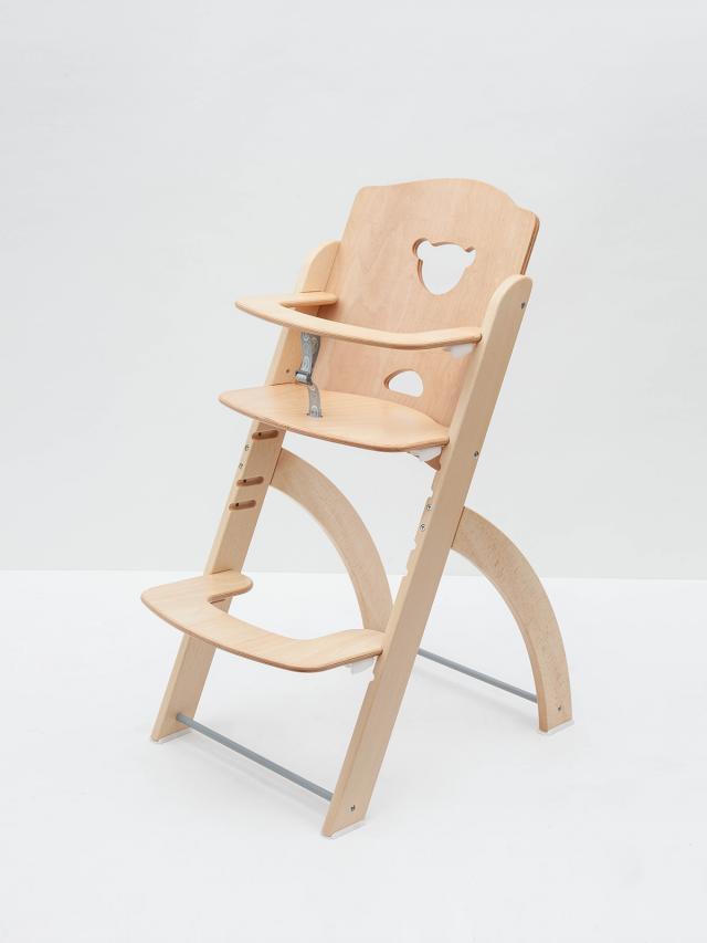 Pali Pappy Re 兒童成長餐椅 - 原木 / 單椅 + 安全帶