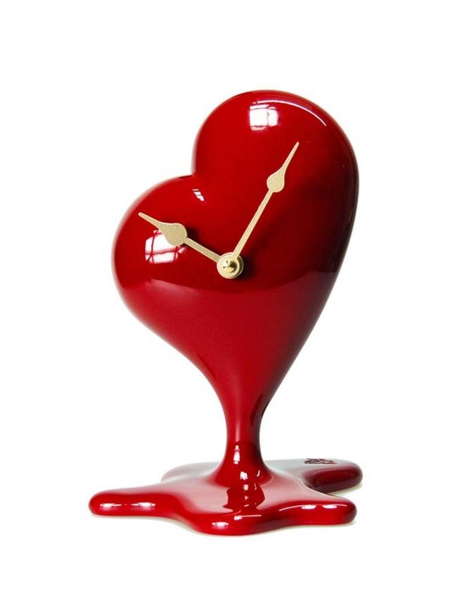 antartidee 心臟造型時鐘 - 紅