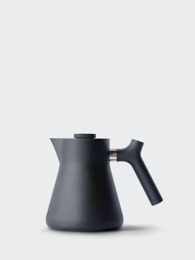 FELLOW RAVEN 不鏽鋼測溫沖茶壺 - 啞光黑