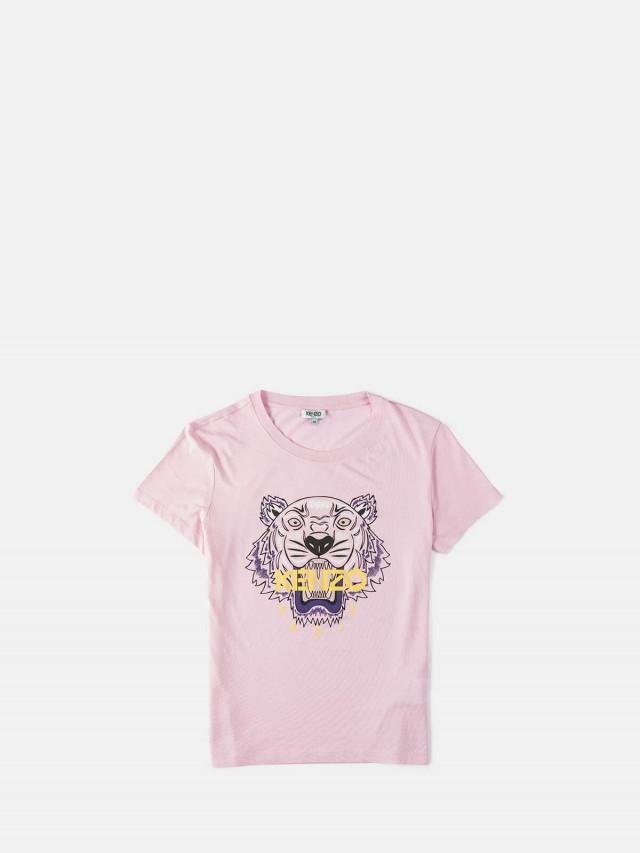 KENZO 彩色印刷虎頭女版短 T - 粉紅