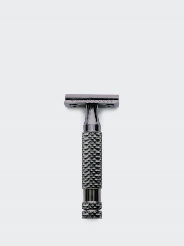 Grand Manner 特務系列 / 復古雙刃安全手動刮鬍刀- 槍灰