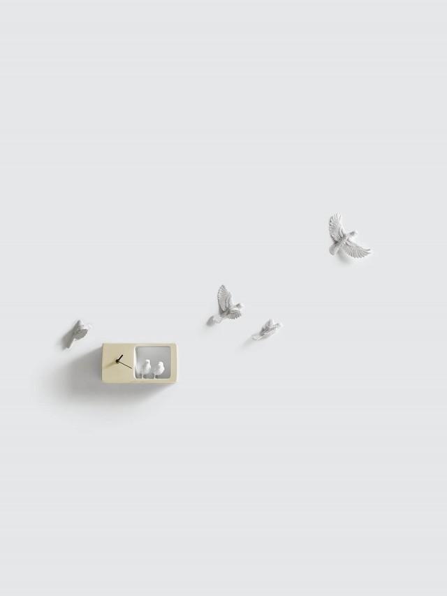 haoshi 麻雀時鐘 - 淺黃