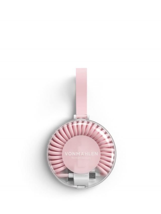 VONMÄHLEN 甜甜圈多合一充電傳輸線 - 粉紅