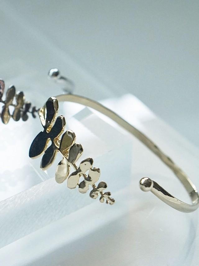 EMMPTYFOREST 蕨葉手環 / 黃銅包 18K 金