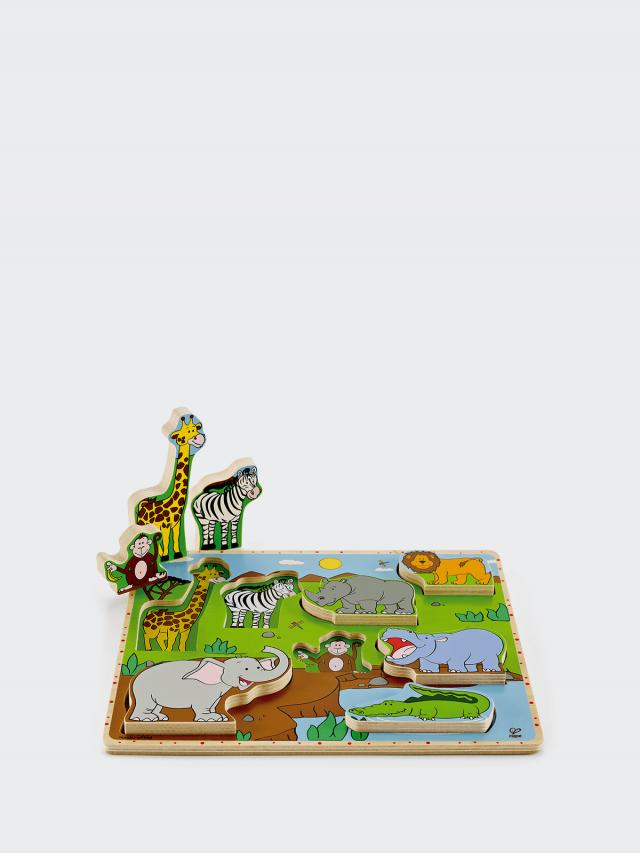 Hape 野生動物立體木拼圖