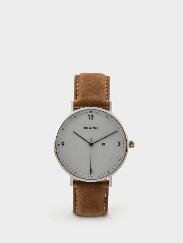 PICONO VINYL - 系列 輕薄真皮錶帶手錶 - 白