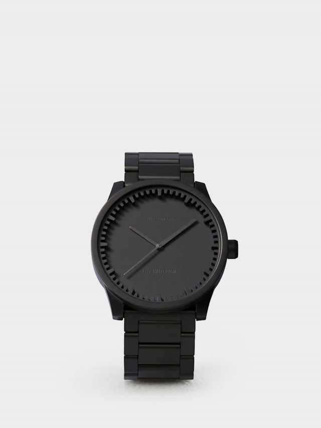 LEFF amsterdam tube 北歐工業齒輪設計腕錶 - 42 mm 霧黑 / 黑鋼帶