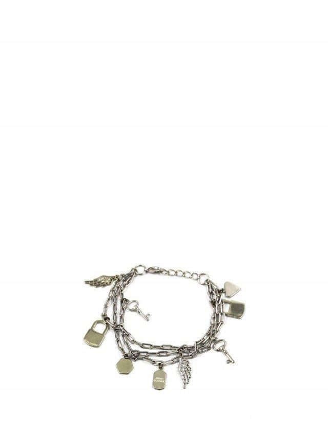 ARMANI EXCHANGE 銀色品牌象徵手鍊