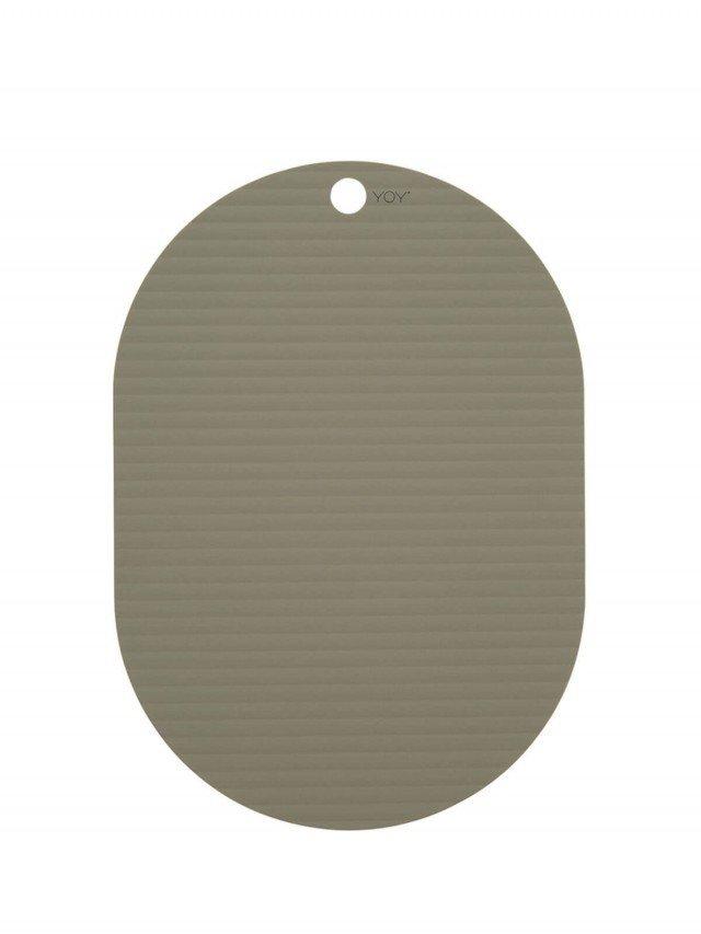 OYOY 橢圓形矽膠餐墊 - 橄欖綠 ( 2入組 )