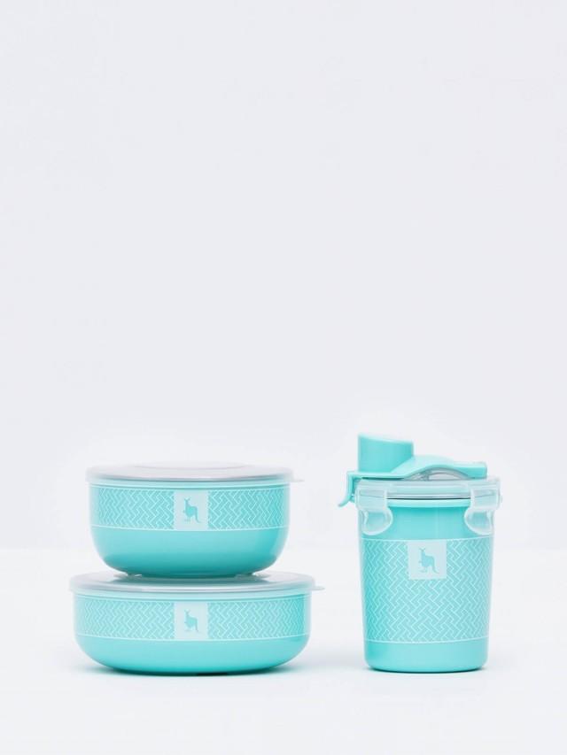 Kangovou 100 分簡配餐具組 - 薄荷綠