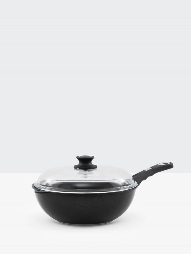 GerPros 德藝緻手工鑄造單柄中華炒鍋 - 28cm / 電磁爐可用
