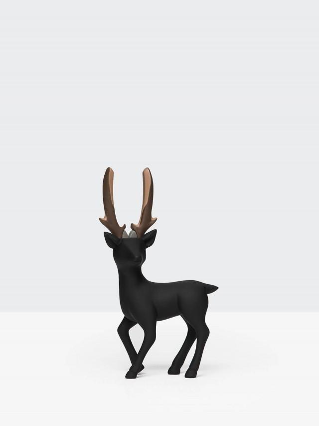 iThinking Dear Deer 站立款 - 巧克力色尖嘴鉗 / 霧面 x 黑