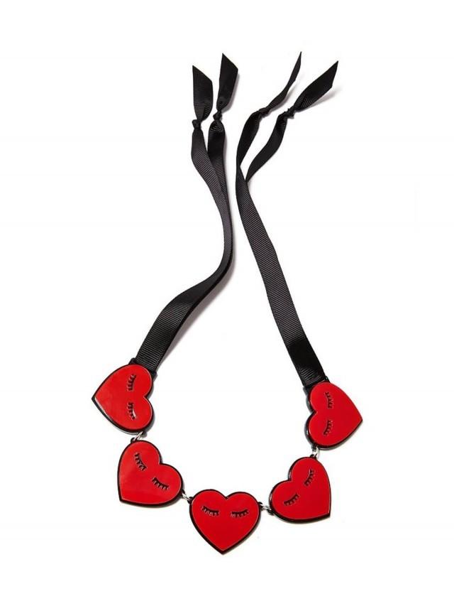 MONOLAMA 閉眼愛心造型項鏈