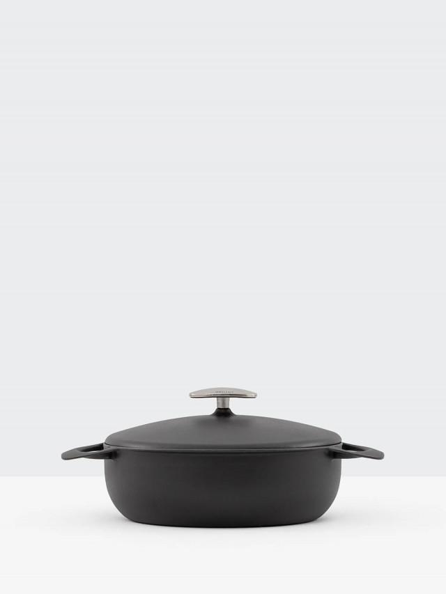UNILLOY 世界極輕琺瑯鑄鐵鍋 - 24cm  / 消光黑