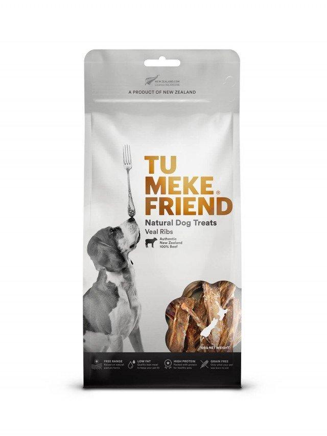 TU MEKE FRIEND 圖米其 自然風乾狗零嘴 - 小牛肋條 125g