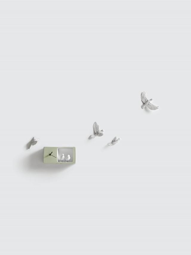 haoshi 麻雀時鐘 - 淺綠