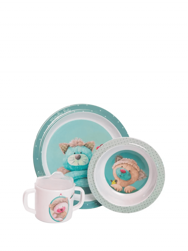 Moulin Roty 帕奇安全杯盤禮盒組 ( 盤、碗、杯三件組 )